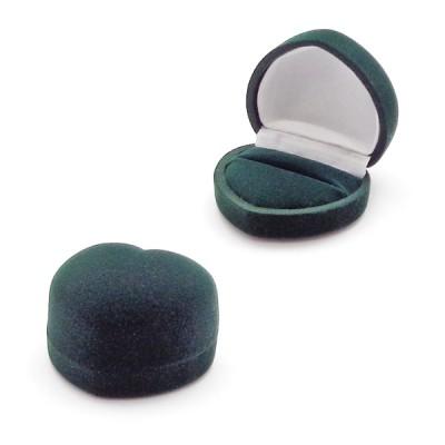pudełko welurowe do pierścionka - serduszko