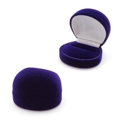 pudełko welurowe do pierścionka - owal