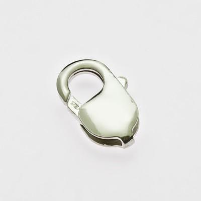 zamek srebrny fasolka CHR 18 mm