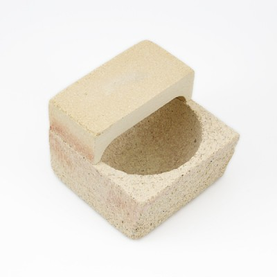 tygiel szamotowy z pokrywką do topienia złota/srebra